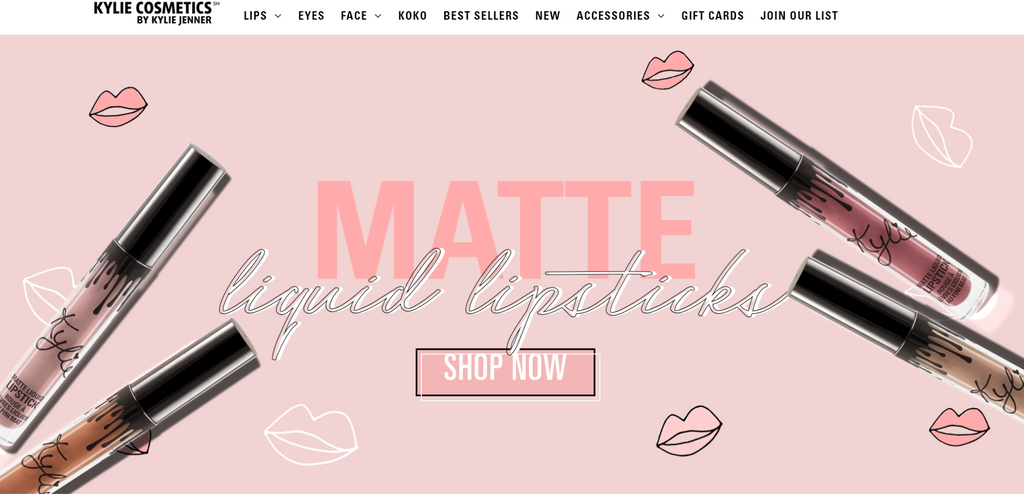 Kylie Cosmetics bei Shopify - Eshop Guide