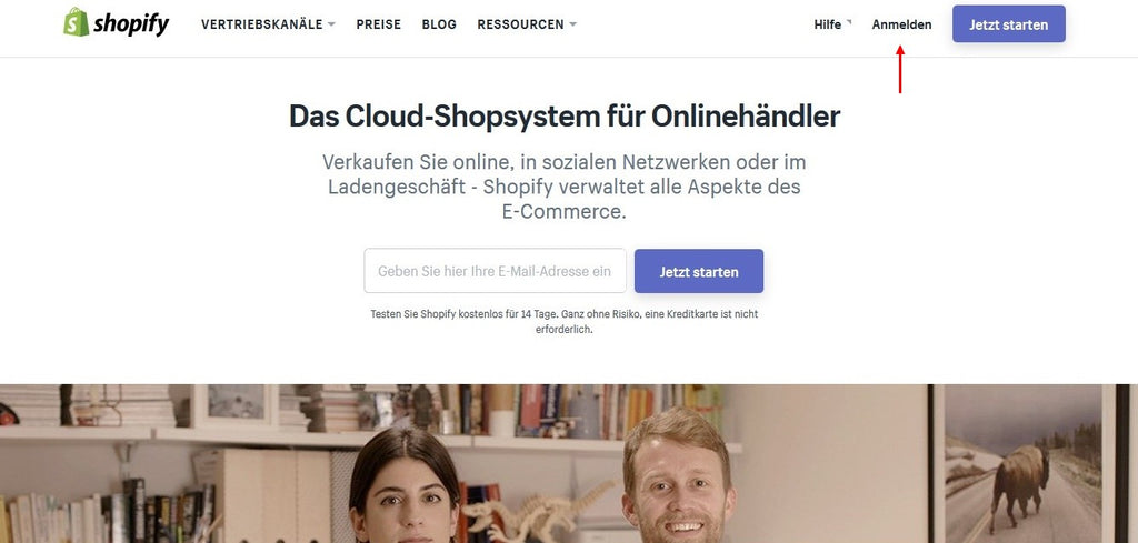 So funktioniert der Shopify Login - Eshop Guide