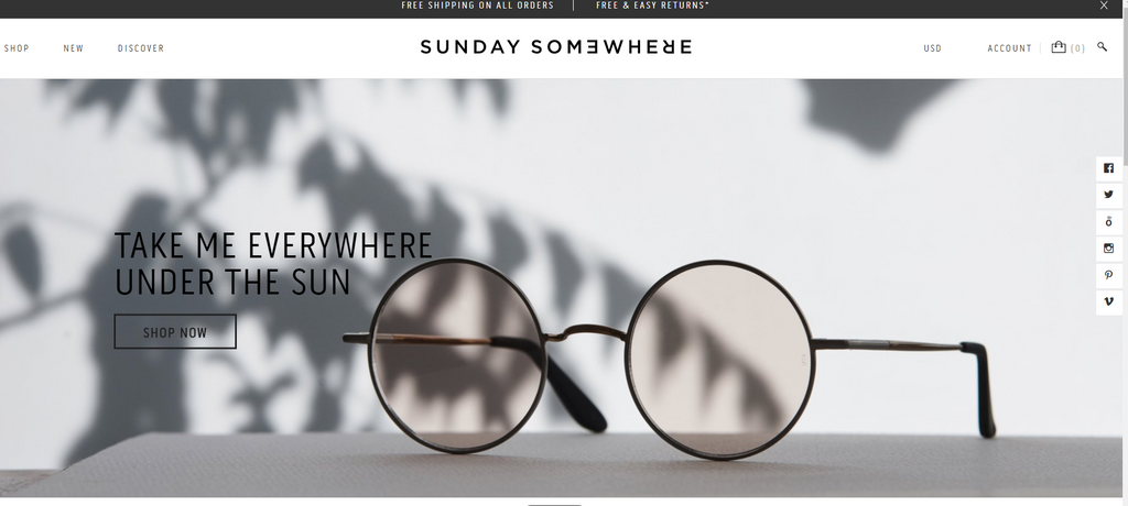 Sunday Somewhere bei Shopify - Eshop Guide