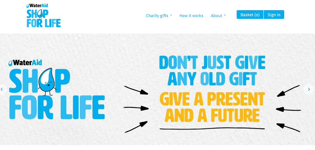 WaterAid bei Shopify - Eshop Guide