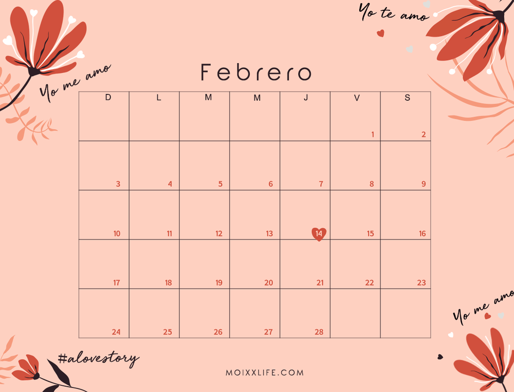 PLANNER Y CALENDARIO FEBRERO 2019 (DESCARGABLE)
