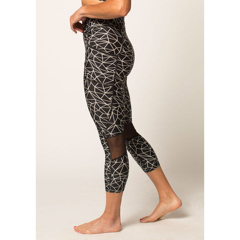 Women's High-Waist Active Capri With Pockets