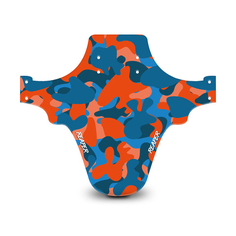 Camo Orange & Blue Mudguard