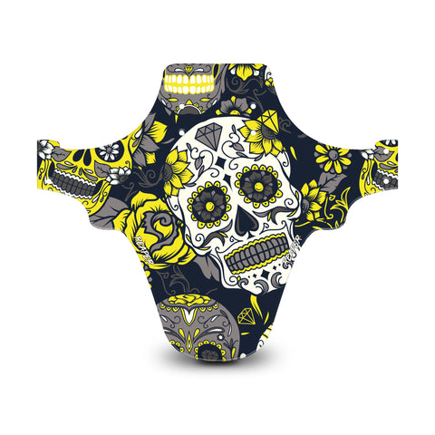 Candy Skull Yellow Mudguard