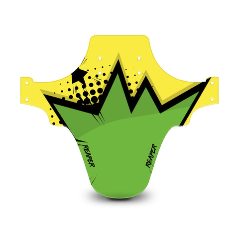 Pop Art Yellow & Green Mudguard
