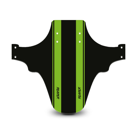 Racing Stripes Black & Green Mudguard