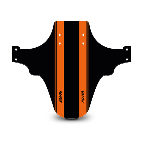 Racing Stripes Black & Orange Mudguard