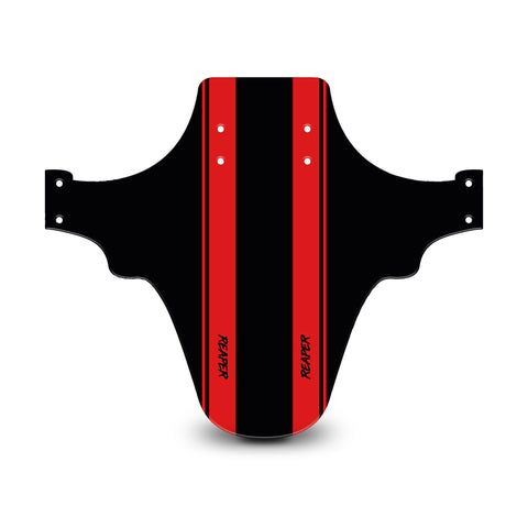 Racing Stripes Black & Red Mudguard