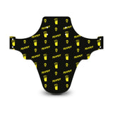 Reaper Skull Pattern Black & Yellow Mudguard