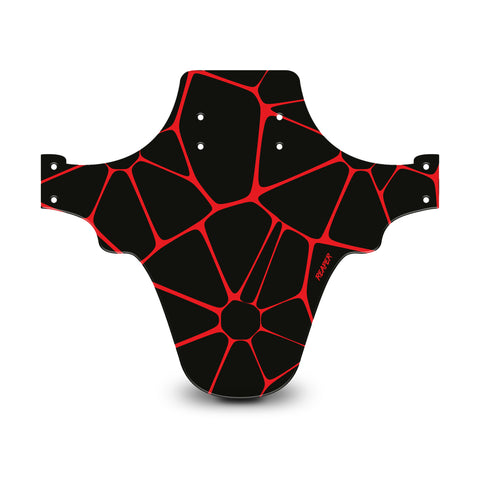Voronoi Diagram Black & Red Mudguard