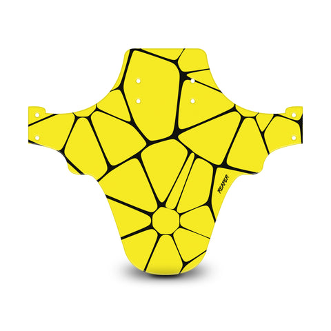 Voronoi Diagram Yellow & Black Mudguard