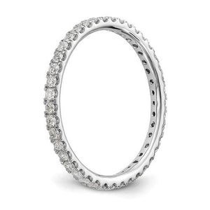 1/2 Ct. Simulated Diamond CZ Eternity Stackable Wedding Band Ring in 10k White Gold