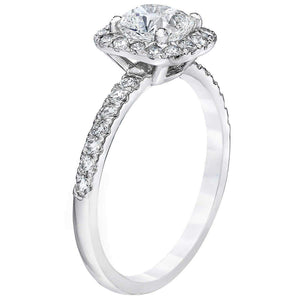Cushion Cut 1.45 ctw VS2 Clarity I Color Simulated Diamond 10K White Gold Engagement Ring