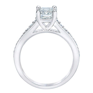 Emerald Cut 1.92 ctw VS2 Clarity G Color Simulated Diamond CZ 10kt White Gold Wedding Ring