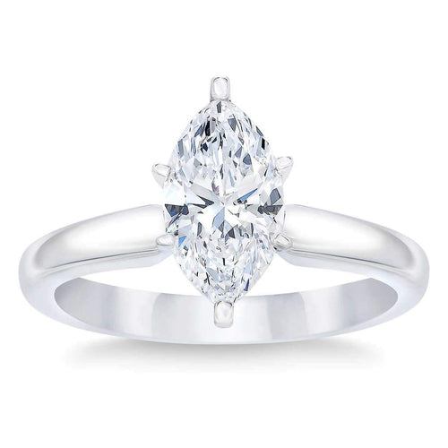 Marquise Cut 2.02 ct Simulated Diamond CZ 10kt White Gold Solitaire Engagement Ring