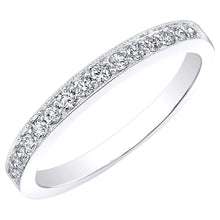 Load image into Gallery viewer, Round Brilliant 0.23 ctw VS2 Clarity I Color Simulated Diamond CZ 10kt White Gold Band