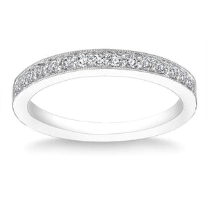 Round Brilliant 0.23 ctw VS2 Clarity I Color Simulated Diamond CZ 10kt White Gold Band