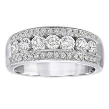 Load image into Gallery viewer, Round Brilliant 1.00 ctw VS2 Clarity I Color Simulated Diamond CZ 10kt White Gold Anniversary Band