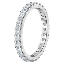 Load image into Gallery viewer, Round Brilliant 1.00 ctw VS2 Clarity I Color Simulated Diamond CZ 10K White Gold Eternity Band