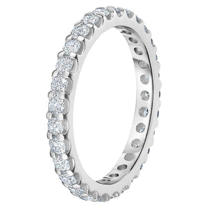 Round Brilliant 1.00 ctw VS2 Clarity I Color Simulated Diamond CZ 10K White Gold Eternity Band