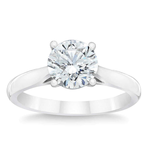 Round Brilliant 1.50 ct VS2 Clarity I Color Simulated Diamond CZ 10kt White Gold Solitaire Engagement Ring