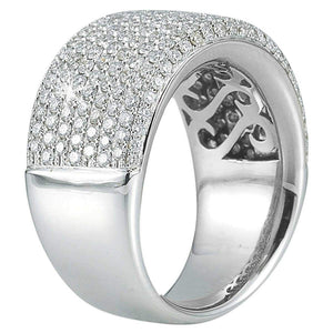 Round Brilliant 1.89 ctw VS2 Clarity I Color Simulated Diamond CZ 10kt White Gold Pave Band