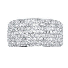 Load image into Gallery viewer, Round Brilliant 1.89 ctw VS2 Clarity I Color Simulated Diamond CZ 10kt White Gold Pave Band
