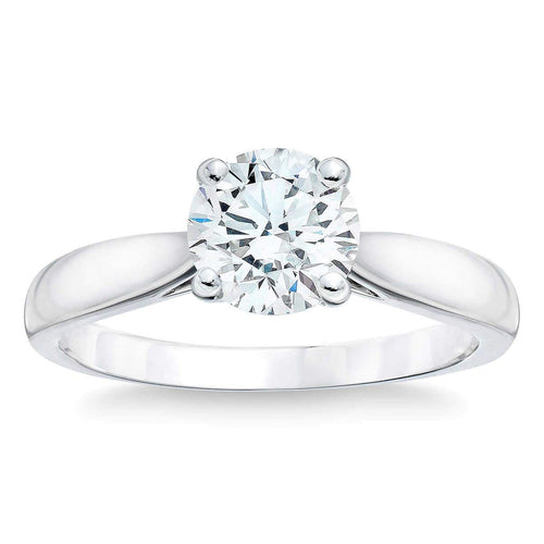 Round Brilliant 2.04 ct VS1 Clarity D Color Simulated Diamond CZ 10K White Gold Solitaire Ring