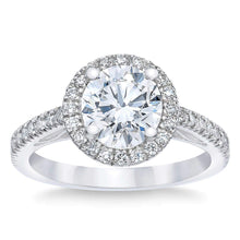 Load image into Gallery viewer, Round 2.51 ct Simulated Diamond CZ 10kt White Gold Halo Engagement Ring