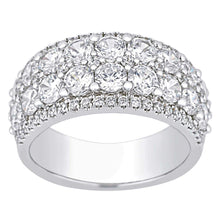 Load image into Gallery viewer, Round Brilliant 3.00 ctw VS2 Clarity I Color Simulated Diamond CZ 10K White Gold Band