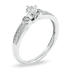1/5 CT. T.W. Diamond Promise Ring in 10K White Gold