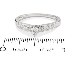 Load image into Gallery viewer, 1/5 CT. T.W. Diamond Promise Ring in 10K White Gold