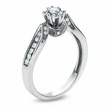 Load image into Gallery viewer, 1/5 CT. T.W. Diamond Channel-Set Promise Ring in 10K White Gold