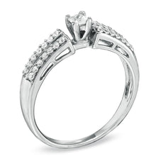 Load image into Gallery viewer, 1/4 CT. T.W. Princess-Cut Diamond Promise Ring in 10K White Gold