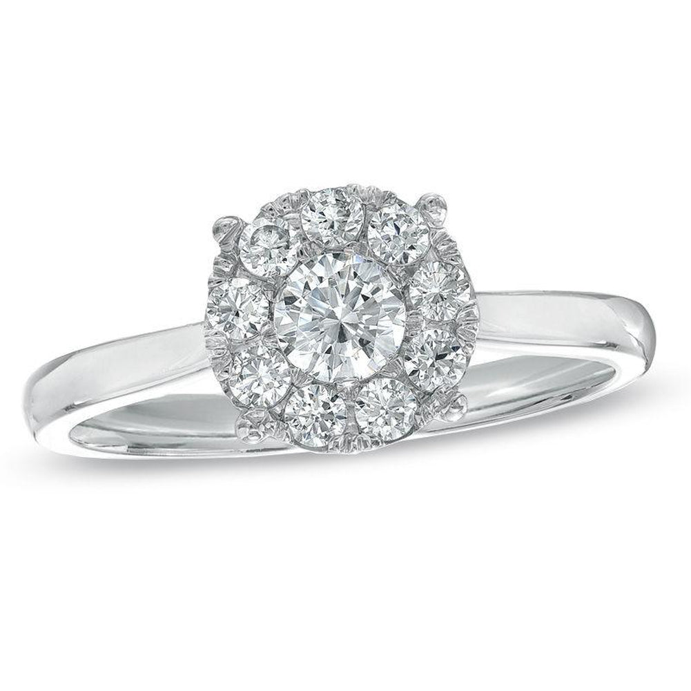 1/2 CT. T.W. Composite Diamond Engagement Ring in 10K White Gold