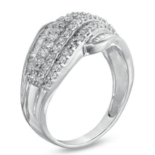 Load image into Gallery viewer, 1 CT. T.W. Diamond Wave Band in 10K White Gold