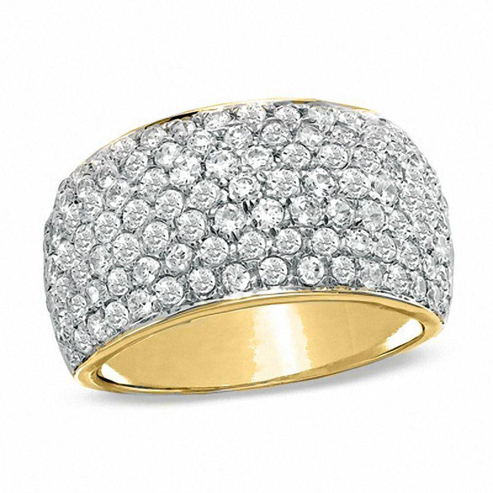 2 CT. T.W. Diamond Seven Row Band in 10K Gold