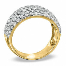 Load image into Gallery viewer, 2 CT. T.W. Diamond Seven Row Band in 10K Gold