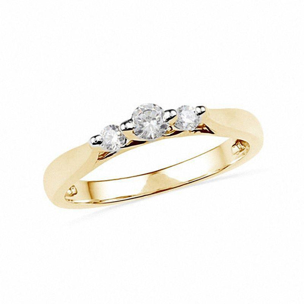 1 4 CT Diamond Three Stone Ring in 14K gold