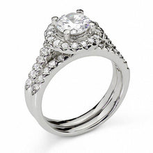 Load image into Gallery viewer, 1-1/5 CT. T.W. Diamond Frame Bridal Set in 14K White Gold