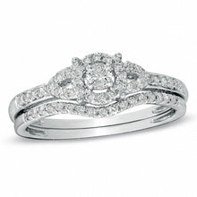 Load image into Gallery viewer, 1/3 CT. T.W. Diamond Bridal Set in 14K White Gold