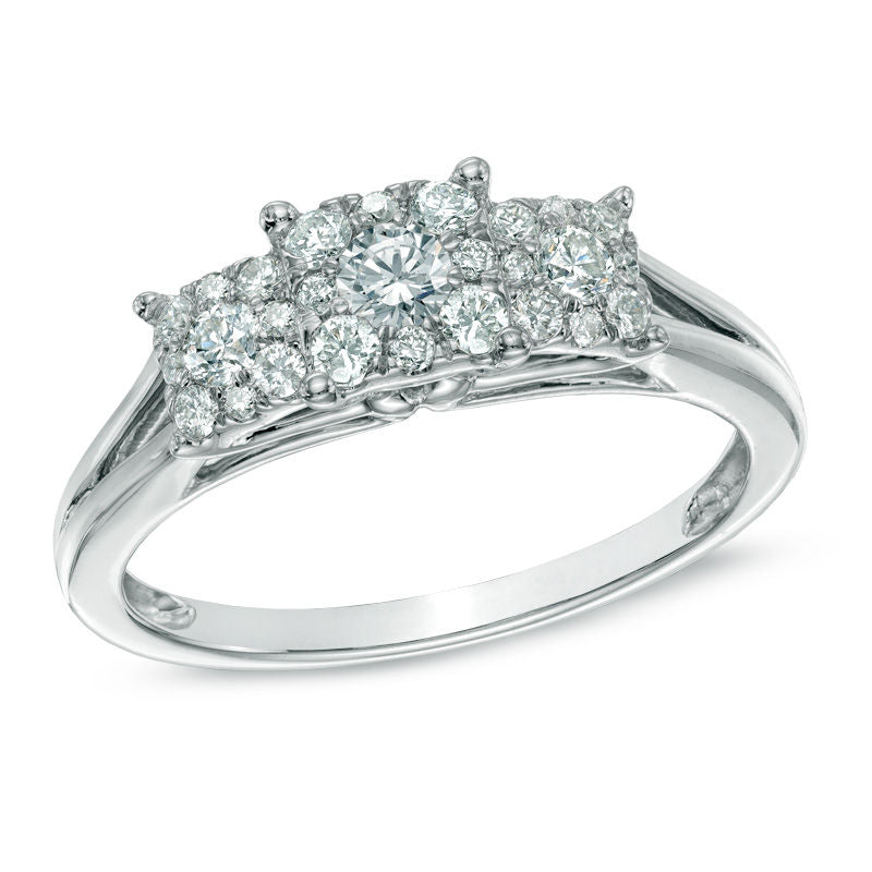 2418ee830 Load image into Gallery viewer, 1/2 CT. T.W. Composite Princess-Cut ...