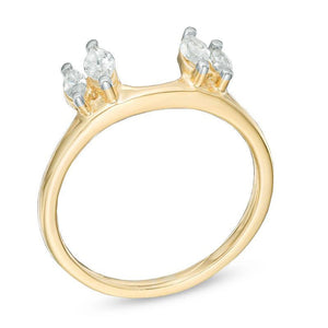 1/2 CT. CT. T.W. Marquise Diamond Solitaire Enhancer in 10K Gold