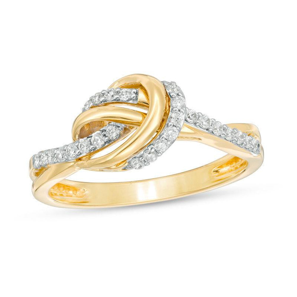 1 5 CT Diamond Knot Ring in 14K gold