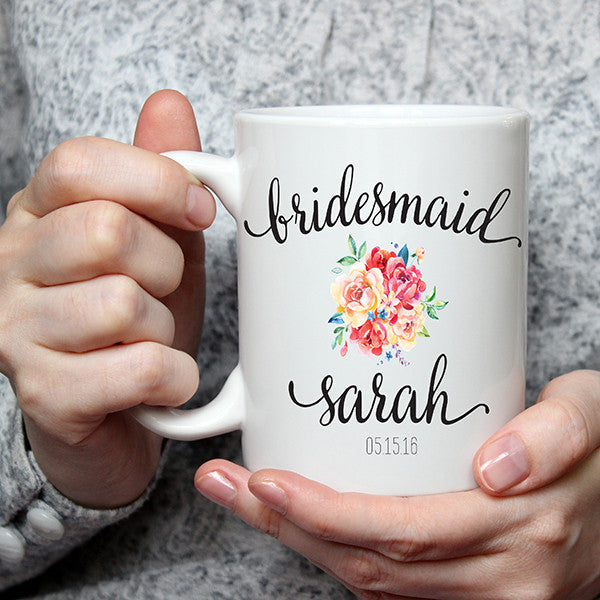 Personalized Bridesmaid Wedding Mug