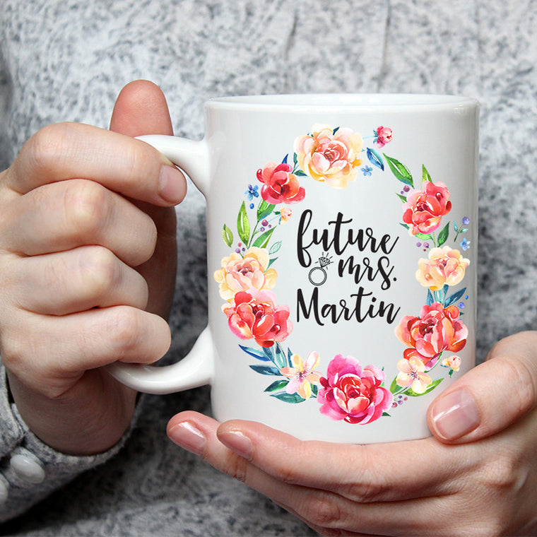 Personalized future mrs. Coffee mug