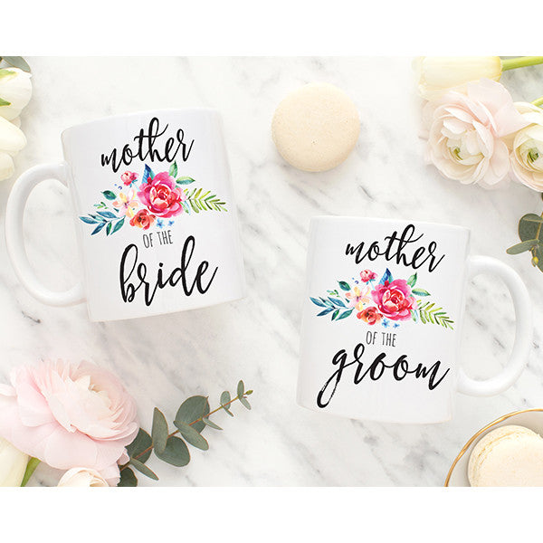 Mother of the Bride and Groom Set of 2 Mugs