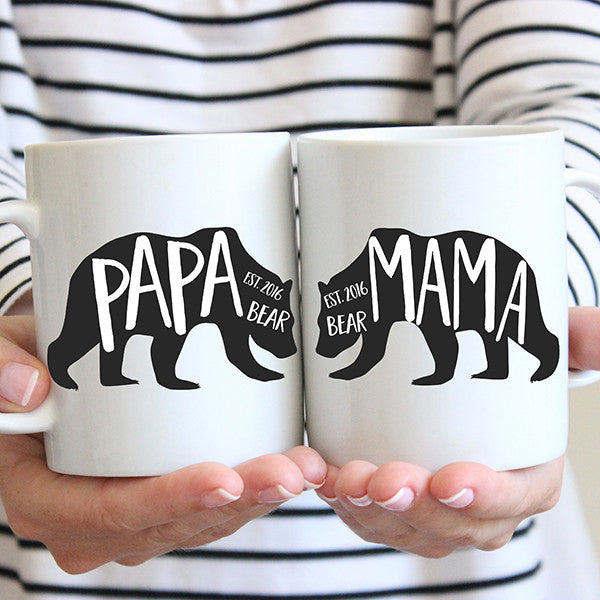 Papa and Mama Bear Coffee Mug