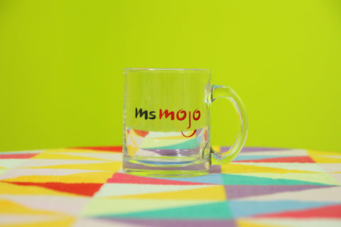 MsMojo Glass Coffee Mug