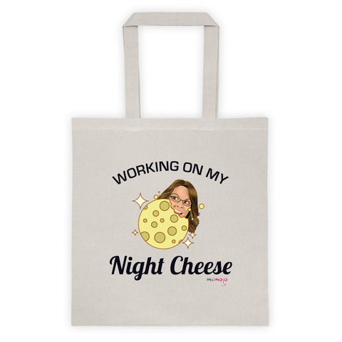 Working on my Night Cheese Tote bag